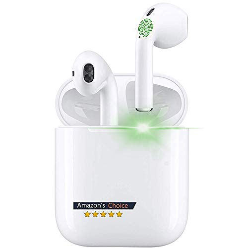 Auriculares Inalámbricos Bluetooth 5.0, Auriculares Bluetooth Deportivos IPX7 Impermeable, In-Ear TWS Cascos Bluetooth Inalámbricos con Microfono Dual y Caja de Carga para iPhone/Samsung/Huawei/Xiaomi