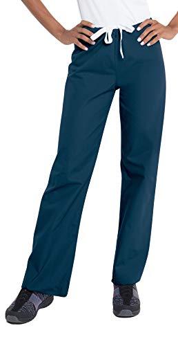 Urbane Essentials Women's Straight Leg Drawstring Scrub Pants-9502 (Navy - Medium)