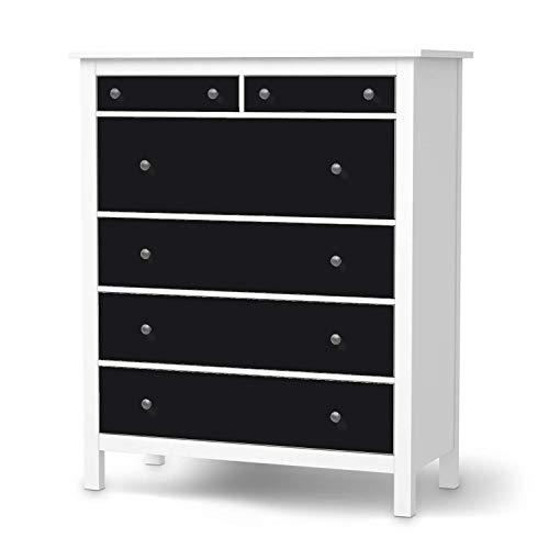 creatisto Wandtattoo Möbel passend für IKEA Hemnes Kommode 6 Schubladen I Möbeldeko - Möbel-Sticker Aufkleber Folie I Innendekoration für Schlafzimmer und Wohnzimmer - Design: Schwarz