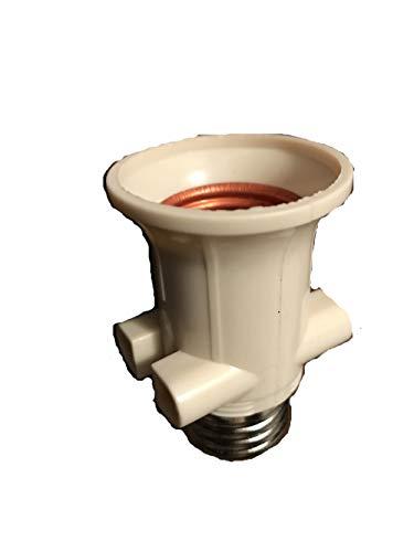 CASQUILLO ADAPTADOR eléctrico BOMBILLA E27 CON 2 ENCHUFES ELECTRICO TOMA DE CORRIENTE Vaso ladrona rosca E27 a tornillo estándar