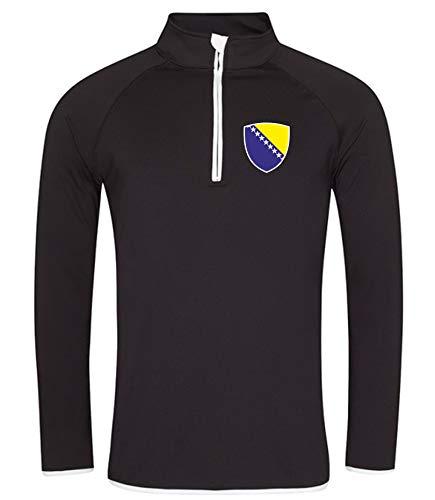 Nation Bosnien Sweatshirt Sport Atmungsaktiv UV-Schutz JC SC-W (XL)