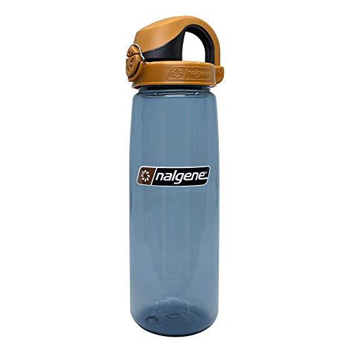 Nalgene On the Fly BPA - Botella de agua, Rhino con Marrón/Negro, 24 onzas