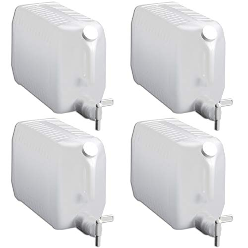 Tolco 2.5 Gallon Plastic Dispenser Carboy with Spigot, HDPE, Natural, 4 Pack