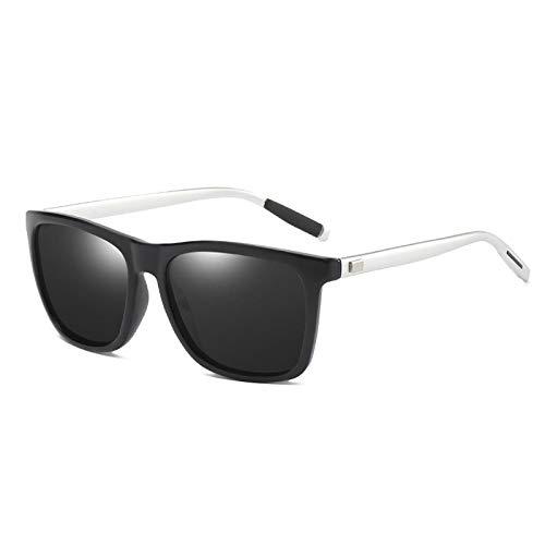 NJJX Gafas De Sol Polarizadas Clásicas Hombres Mujeres Gafas De Sol Cuadradas De Conducción Gafas De Sol Gafas Retro Sombras Gafas 01