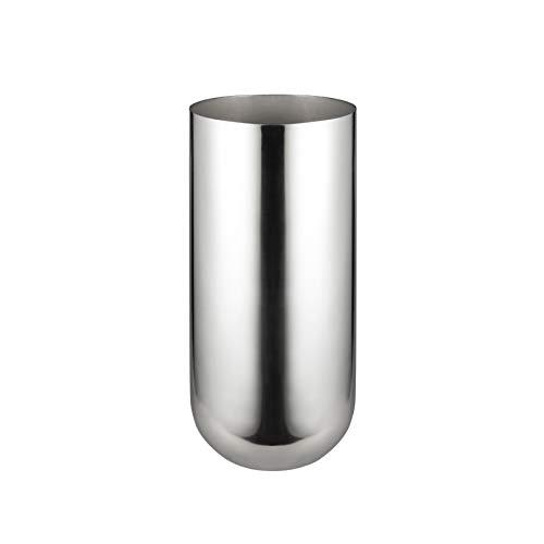 IMEEA® 10 X 23CM SUS304 Spiegel Finish Edelstahl Blumenvase für Wohnkultur (Silver)