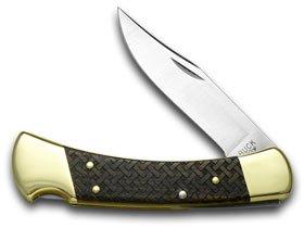 Buck 110 Basketweave 1/400 Folding Hunter Wooden Etched USA Pocket Knife Knives