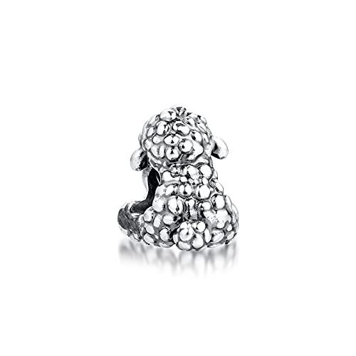 LILANG Pulsera de joyería Pandora 925, se Adapta a Collares Naturales Patti The Sheep Beads, Encanto de Plata esterlina para Mujeres, Regalos DIY