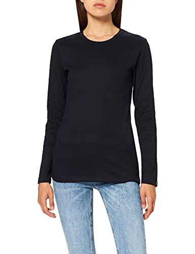 Trigema 502501 - T-shirt à manches longues - Femme - Bleu (Navy) - XXX-Large (Taille fabricant: XXXL)