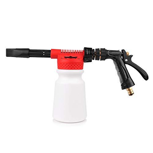 Pistola de espuma y agua de 900ml para lavado de coche, pistola de espuma, agua y jabón, rociador de champú para coche, furgoneta, motocicleta, vehículo, de la marca Abedoe