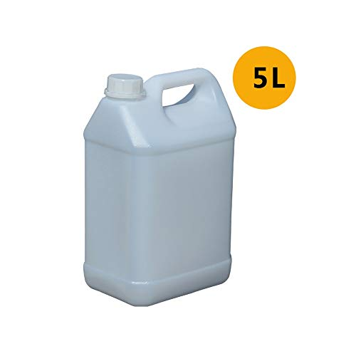 YHFX6Ölfässer Ölfass - Dicker Plastikeimer Haushalt mit Deckel tragbares Flüssigkeitsfass Trinkwasserfass Benzinkanister (Color : White)