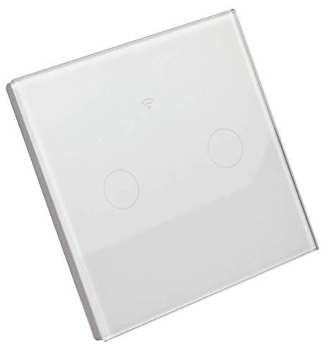 MC POWER - WLAN Smart-Touch-Schalter | 240V/10A, für Amazon Alexa, Google Assistant, per App steuerbar (2-fach)