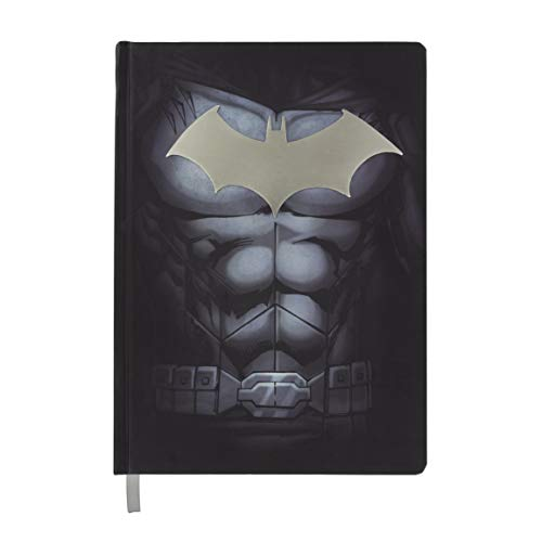 Paladone DC Comics Officially Licensed Merchandise - Batman Metal Hardcover Notebook with Ruled Pages