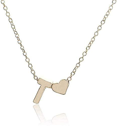 Yiffshunl Collar de Moda Inicial Personalizado Letra Nombre Collar Colgante de Oro Regalo de la joyería