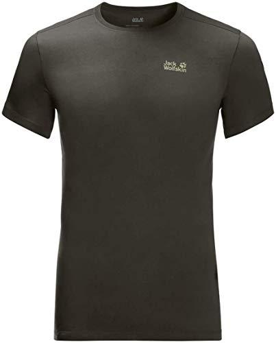 Jack Wolfskin Herren Rebel T-Shirt, Dark Moss, L