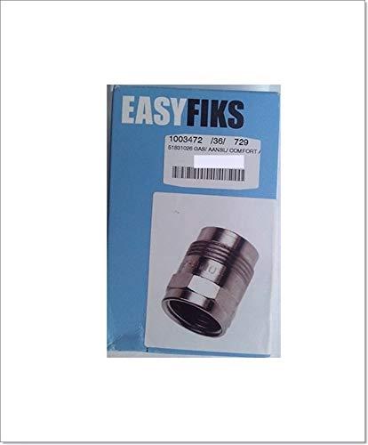 EASYFIKS Gaskupplung 1/2