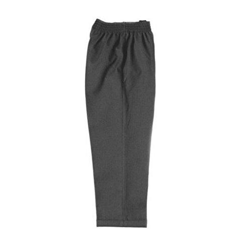 Pantalones escolares elásticos sin cremallera para niños de 2 a 12 años, color negro, gris y azul marino