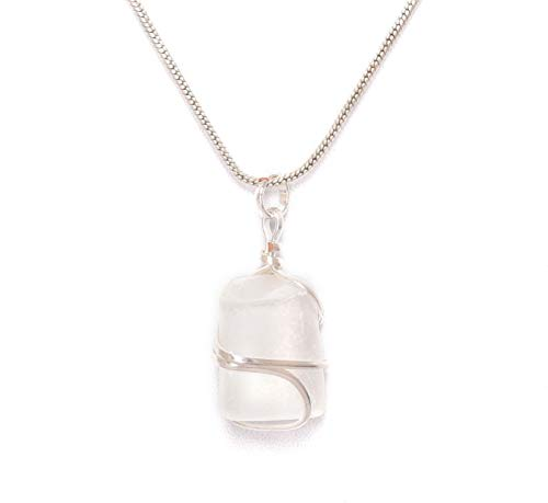 Blessfull Healing Reiki Espiritual Fe Curación Gemstone Energía Selenita Stone Wire Wrap Tamble Collar Colgante