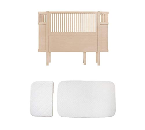 Sebra Ausstellungsstück Bett - Baby-, Juniorbett - das Bett, das mit dem Kind wächst - in Wooden Edition Natur Buche + Classic MATRATZE !