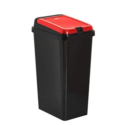 Home In Style 45 L Touch Top Bin/Waste & Recycling Bins/Kitchen Dustbin 1 YEAR LID WARRANTY(Red, 45)