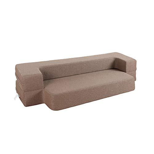 HonTop 8 Inch Sofa Bed Memory Foam Sofa Folding Bed Queen Sofa Bed Brown Sofa Bed