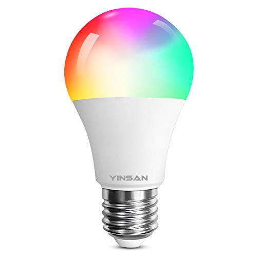 Bombilla LED Inteligente WiFi YINSAN, 9W Bombilla LED Luces...
