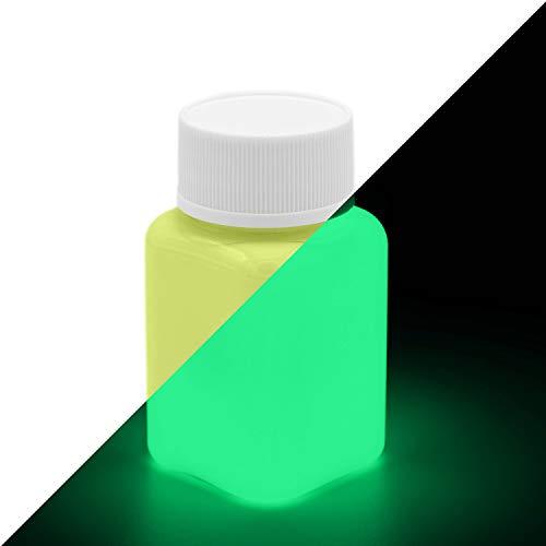 lumentics Premium Leuchtfarbe Gelb 100g - Im Dunkeln leuchtende Farbe, Helle Nachleuchtfarbe, Selbstleuchtende Wandfarbe, UV Glühfarbe, Glow (Gelb-Grün)