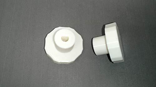 HVAC Manual Damper knob White, Designed for .25 Inch Shaft dampers