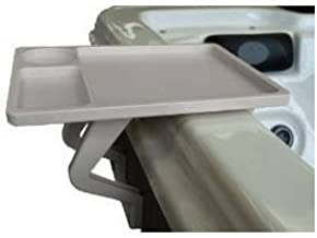 beige/ almond traymate, aqua tray for spa, pool, couch, patio, hot tub back yard.