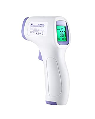 Thermometer, Non-Contact Forehead Thermometer, Precise Fast, Fever Alarm, Digital Infrared Thermometer with LED Display, Data Memory, Baby/Child,/Adult - HW-F7