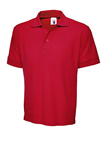 UC104 - Red - XL - 250GSM Ultimate Poloshirt