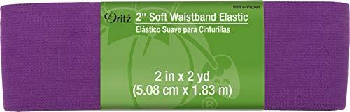 Dritz Notions DRI9591.Violet Elastic Soft Waistband 2', 2'