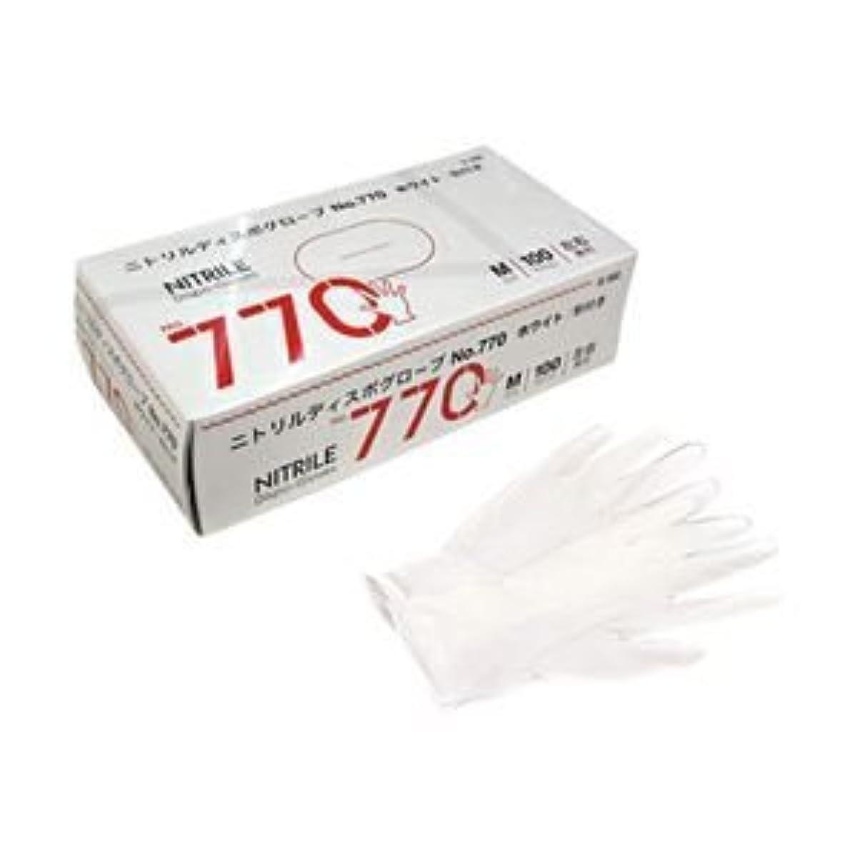 化学ウィスキー始める宇都宮製作 ニトリル手袋770 粉付き M 1箱(100枚) ×5セット