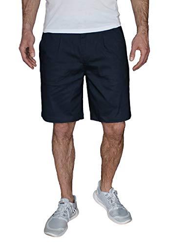 Banqert Herren Kurze Hosen, Männer Shorts Regular fit, Herrenshorts Pants, einfarbige Wanderhose für Jungen Chino Knielang, Blau Blue Navy M