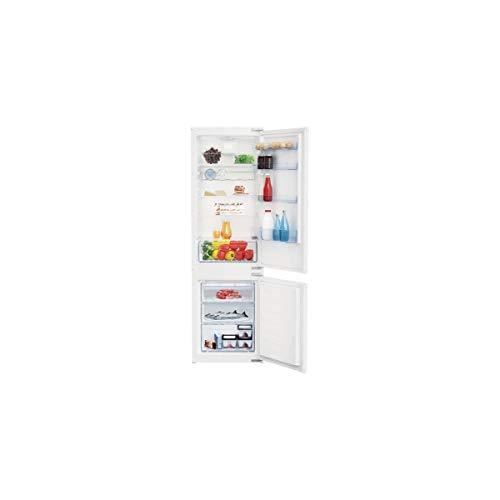 Réfrigérateur encastrable Beko BCSA285K2SF - Réfrigérateur congélateur encastrable - 271 litres - Réfrigerateur/congel : Froid brassé / Froid statique - Dégivrage automatique - Classe A+ / Intégrable