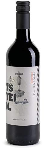 7STEIN Pinot Noir & Merlot - eine Cuvée aus Spätburgunder und Merlot - ein Qualitätswein, Rotwein aus Rheinhessen, Deutschland (1 x 0.75 l)