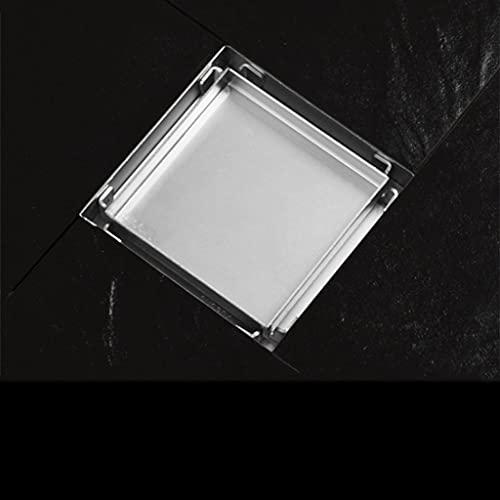 LKYBOA Azulejo Inserción Piso cuadrado Retenas de residuos Baño Ducha Drenaje Drenaje Drenaje Drenaje Antiguo Drenaje Cabello invisible (Size : 11cm)