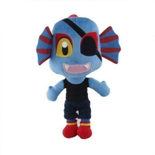 SAGUSI 25cm 1pcs    Undertale Plush Toy Undertale Sans Papyrus Frisk Chara Temmie Undyne Plush Stuffed Toys Doll Gift for Children Kids (Undyne)