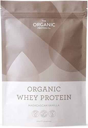 Madagascan Vanilla Organic Whey Protein Powder 400g - Grass Fed, Additive Free & Gluten Free