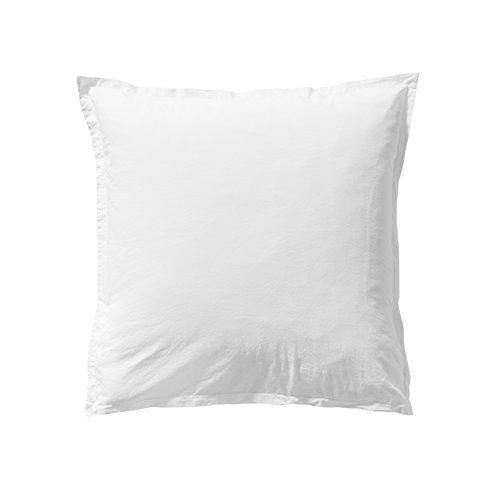 ESSIX Taie d'oreiller, Coton, Blanc, 50x70 cm