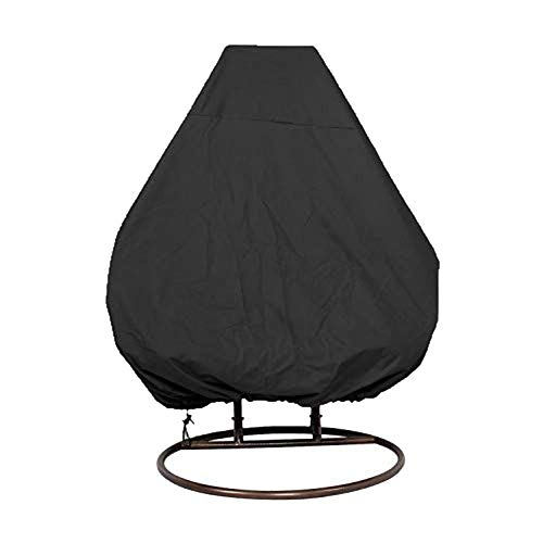 Honrik Patio Hanging Chair Cover, Waterproof, Windproof, Anti-UV, Duty Rip Proof Oxford Fabric Garden Rattan Wicker Chair Cover Hanging Egg Canopy Swing Covers Wicker Chair Outdoor Furniture Cover