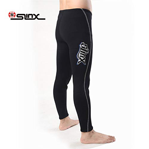 pandawoods Wetsuit Pants 3mm Thermal High Waist Long Neoprene Trousers Diving Pants for Men Women