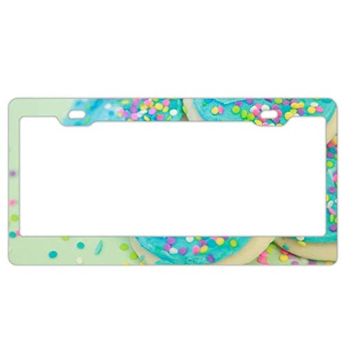 "JUCHen Soft Sweet Sugar Cookies License Plate Frame Car License Plate Covers Auto Tag Holder 6"" x 12"""