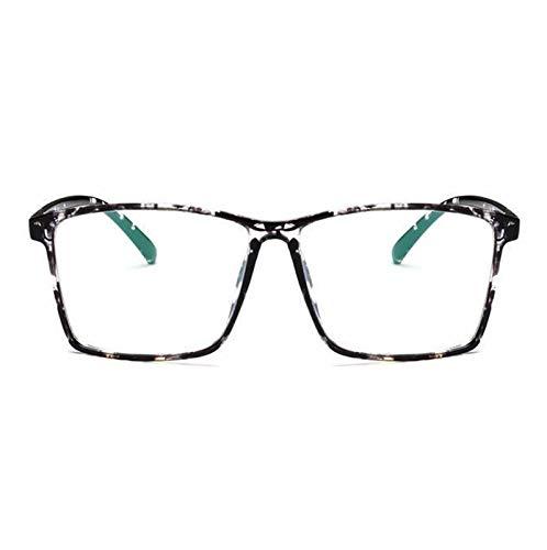 Without Marcos de Gafas Diseñador de Moda Hombres Gafas Marcos ópticos Mujeres Gafas cuadradas Marco Lente Claro Eyeware Negro Plata Oro Ojo Vidrio (Frame Color : Black Flower)