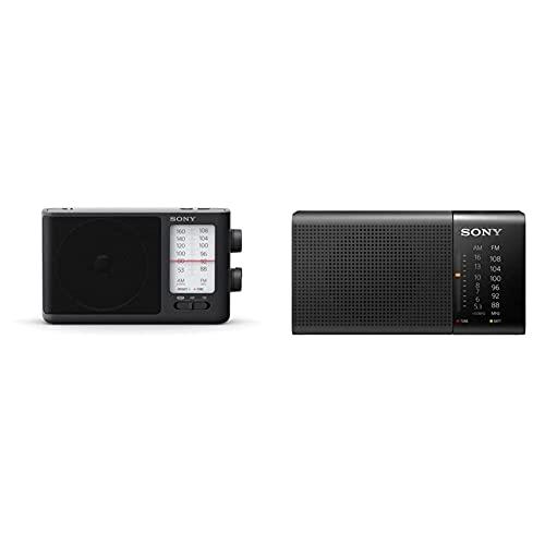 Sony Icf506.CED Radio Portátil Negro + Icf-P36 Radio Analógico Portátil FM/Am, Negro, 13.15 X 6.95 X 4.35 Cm