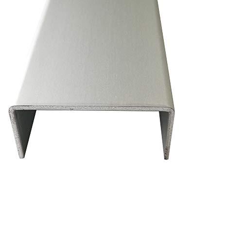 U-Profil Aluminium eloxiert 2,0 mm stark U-Profile Aluminium Natur Eloxiert Abdeckprofile Alu 2000mm Abdeckleisten 2 Meter (15x40x15 mm)