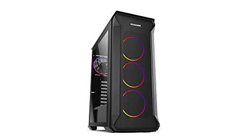 Nox Hummer Quantum -NXHUMMERQUANTUM- Caja ARGB ATX-Micro ATX-ITX, 4 ventiladores ARGB 120mm preinstalados, cristal templado, espacio para hasta 6 ventiladores, USB 3.0, color negro