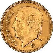 1955 MX Cinco Pesos Mexican Gold Coin 5 pesos BU