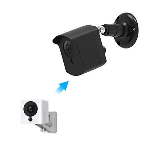 Mrount Wyze Camera Wall Mount Bracket, Weather Proof Cover with Security Wall Mount for Wyze Cam V2 V1 and Ismart Spot Camera Indoor Outdoor Use by (Black, 1 Pack)
