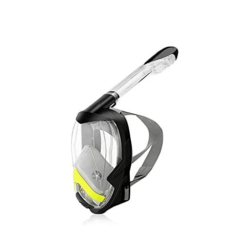 Peakfeng Versión Máscara de Snorkel Plegable 180 Vista panorámica Libre respiración Cara Completa Máscara de Snorkeling Dry Top Set Anti-Fog Anti-Fugas for Adultos y niños Anti-Niebla (Color : Black)