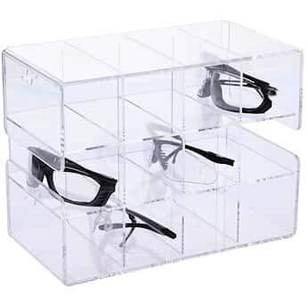 "Argos Technologies ACH12 CleanCut Acrylic Safety Glasses Holder 12-Unit 12.25 x 6.75 x 9.25""; 1/EA"
